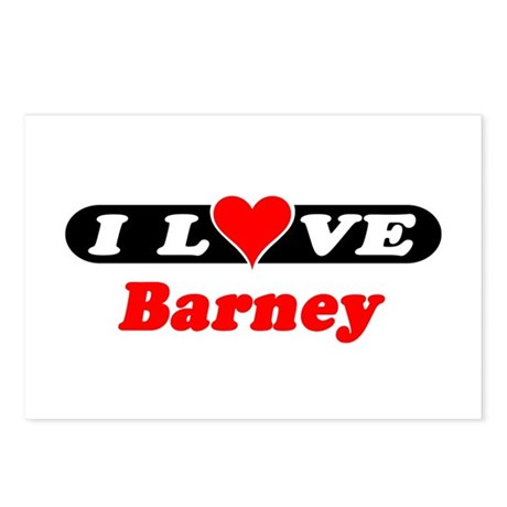 I Love Barney Postcards (Package of 8)