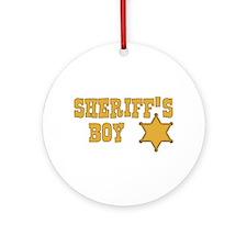 Sheriff's Boy Ornament (Round)
