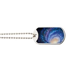 Artwork of a galaxy as whirlpool in space Dog Tags