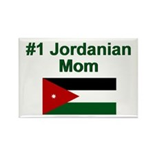 Jordanian #1 Mom Rectangle Magnet