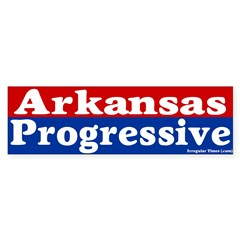 Arkansas Progressive Bumper Bumper Sticker