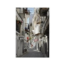 Ibiza old town alley Rectangle Magnet