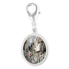 Ibiza old town alley Silver Oval Charm