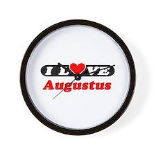 I Love Augustus Wall Clock