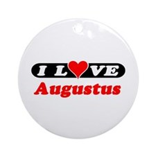 I Love Augustus Ornament (Round)