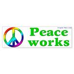 Sign - Peace Works Bumper Sticker