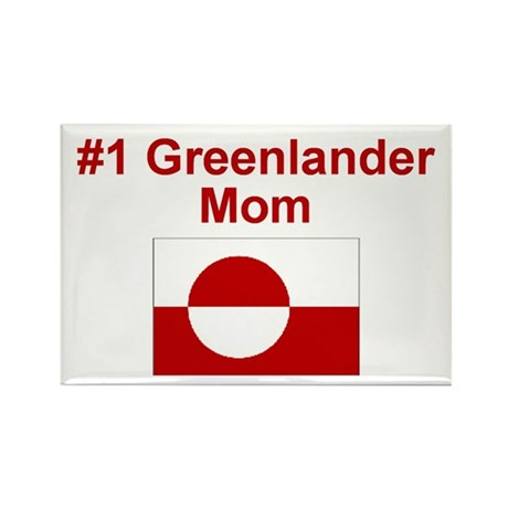 Greenlander #1 Mom Rectangle Magnet