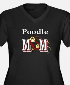 Poodle Dog Mom Women's Plus Size V-Neck Dark T-Shi