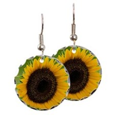 Sunflower in green field Earring