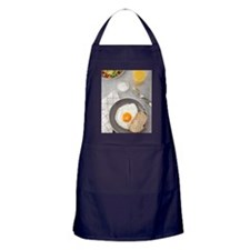 Fried egg and toast Apron (dark)