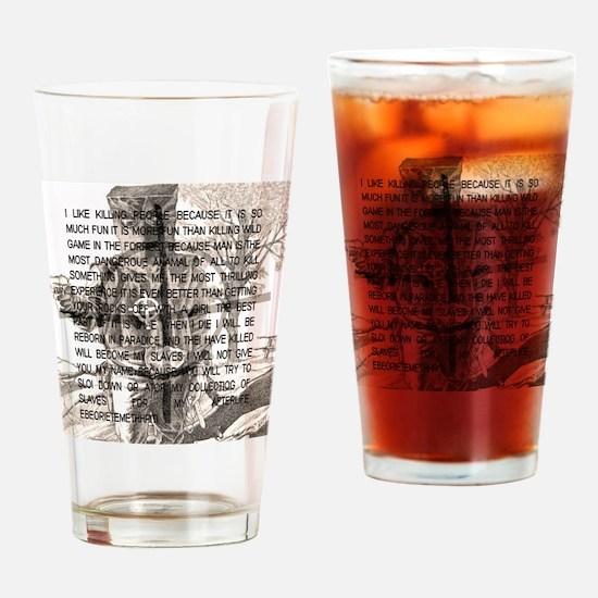 Unique Optimistic Drinking Glass