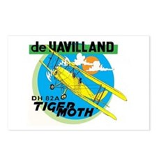 TIGERMOTH Postcards (Package of 8)