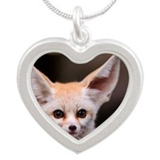 Big ears! Silver Heart Necklace