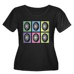 Pop Art Women's Plus Size Scoop Neck Dark T-Shirt