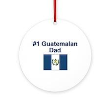 #1 Guatemalan Dad Ornament (Round)
