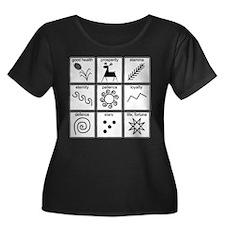 Pysanka Symbols Women's Plus Scoop T-Shirt