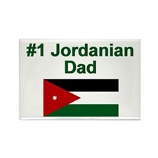 Jordanian #1 Dad Rectangle Magnet
