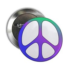 "Classic Rainbow Peace Sign 2.25"" Button (10 pack)"