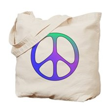 Classic Rainbow Peace Sign Tote Bag