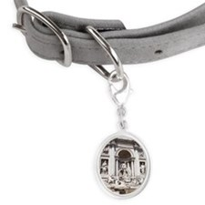 Trevi Fountain Small Oval Pet Tag