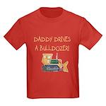 Daddy Drives a Bulldozer Kids Dark T-Shirt