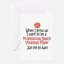WIGU Pro Beach Volleyball Aunt Greeting Cards (Pac