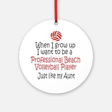 WIGU Pro Beach Volleyball Aunt Ornament (Round)