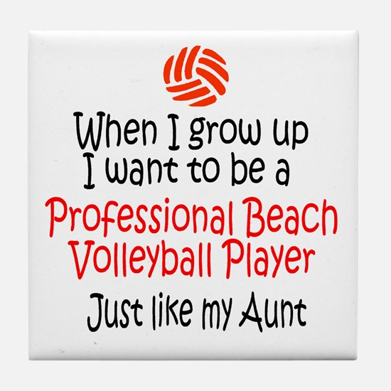 WIGU Pro Beach Volleyball Aunt Tile Coaster