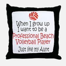 WIGU Pro Beach Volleyball Aunt Throw Pillow