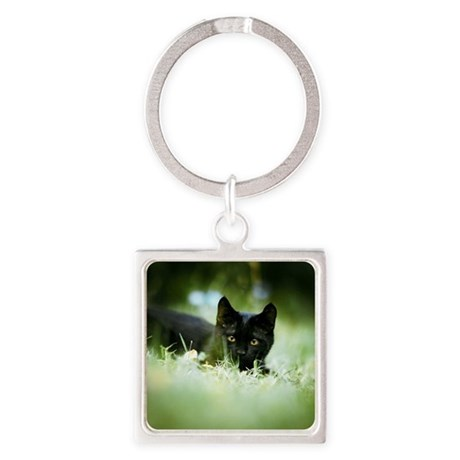 Portrait of cat Square Keychain