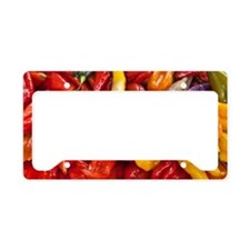 Peppers in a market in Lima,  License Plate Holder