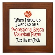 WIGU Pro Beach Volleyball Uncle Framed Tile