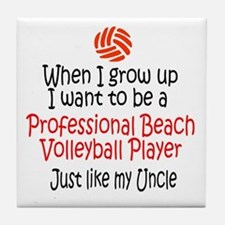 WIGU Pro Beach Volleyball Uncle Tile Coaster