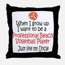 WIGU Pro Beach Volleyball Uncle Throw Pillow
