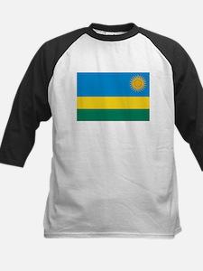Rwanda Flag Kids Baseball Jersey