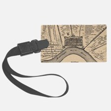 Vintage Map of New Orleans Louis Luggage Tag