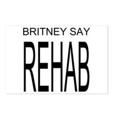 The Original Britney Say Rehab Postcards, 6 pack