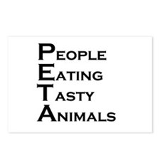 PETA Postcards (Package of 8)
