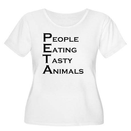 PETA Women's Plus Size Scoop Neck T-Shirt