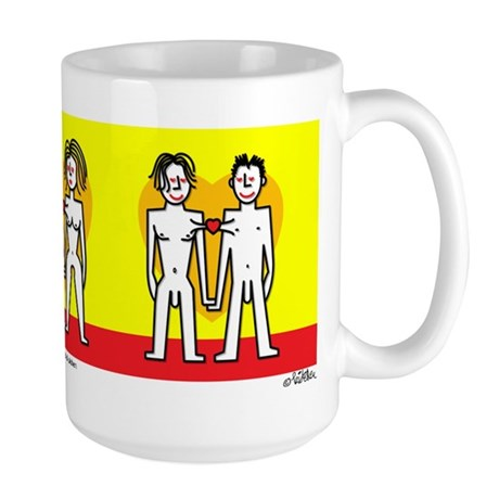me+u (large mug) nude holding hands