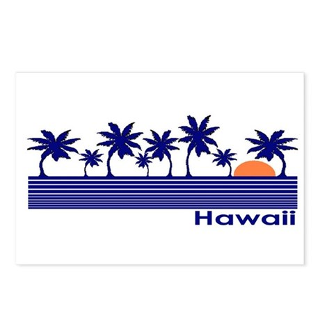 Hawaii Blue Palms Postcards (Package of 8)