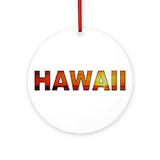 Hawaii Sunset (Light) Ornament (Round)