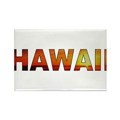 Hawaii Sunset (Light) Rectangle Magnet (100 pack)