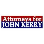 Attorneys for John Kerry bumper sticker