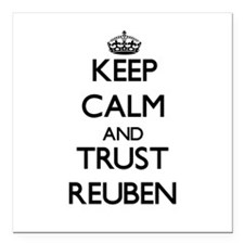 "Keep Calm and TRUST Reuben Square Car Magnet 3"" x"