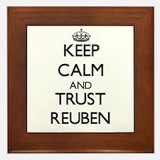 Keep Calm and TRUST Reuben Framed Tile