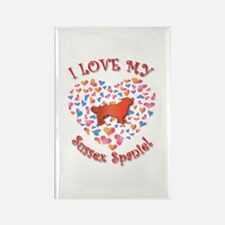 Love Sussex Rectangle Magnet
