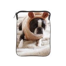 Boston Terrier wearing sweater iPad Sleeve