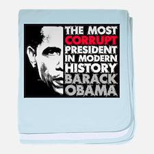 Most Corrupt President baby blanket