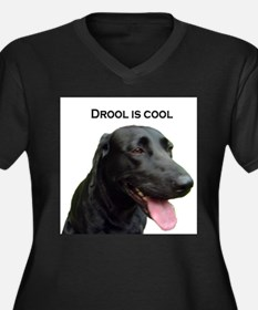 drool is cool Women's Plus Size V-Neck Dark T-Shir